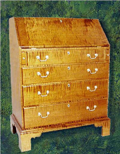 Chippendale slant top Desk - Chippendale Slant Top Desk Antique Gallery Replica