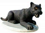 5_4_blkpanther500, Black Panther Sculpture, animals, cats, sculpture, statue, art