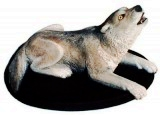 Timber Wolf sculpture, animals, dogs, sculpture, statue, art