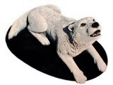 Arctic Wolf sculpture, animals, dogs, sculpture, statue, art