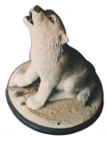 Timber WOLF Pup, animals, dogs, sculpture, statue, art