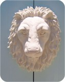 Lion Head life-size wall - Tint, animals, lions, sculpture, statue, art