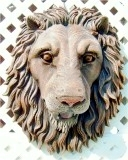 21-lion-head-natural, Lion Head life-size wall mask Realistic, animals, lions, sculpture, statue, art