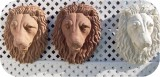 21-lion-head_sandstone-med-red-white, Lion Head life-size wall - Tint, animals, lions, sculpture, statue, art