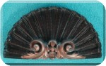 View Arch-Pediment Shell-Fan blk-cppr 7x13