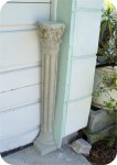 1/4 Corinthian Column Pedestal with top and base  - Resin - Tint, architectural, , sculpture, statue, art