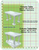 Column Table Alter Grid in. , architectural, , sculpture, statue, art