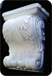 Corbel Angelic 9X5X11 in. , architectural, , sculpture, statue, art