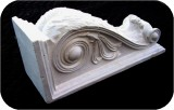 Corbel Acanthus 12X4.25X5.5 in. , architectural, , sculpture, statue, art