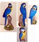 Macaw Parrot Bird 16 in. , birds, bird, sculpture, statue, art
