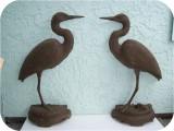 20-1-Heron Wall-Bronze56 in. , birds, herons, sculpture, statue, art