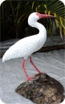 Ibis-White-bird-12_906, White Ibis 11x12 in. , birds, ibis, sculpture, statue, art