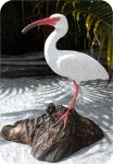 Ibis-White-bird-12_908, White Ibis 11x12 in. , birds, ibis, sculpture, statue, art