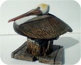 1_1a_brown_pelican84, Brown PELICAN Sculpture, 10x7, birds, pelicans, sculpture, statue, art