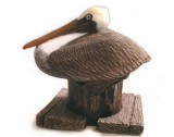 Brown PELICAN Sculpture, 10x7, birds, pelicans, sculpture, statue, art