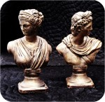 Bust Diana And Apollo Pair 6X9 in. , figurine, , sculpture, statue, art