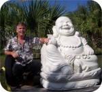 Buddha Laughing, foam-sculpture-carvings, architectural-ornaments, sculpture, statue, art
