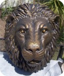 Lionhead Tuscanbronze3X4Ft in. , foam-sculpture-carvings, architectural-ornaments, sculpture, statue, art