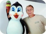 Penguin-theFreezingPoint-715, Penguin Ice Cream Cartoon , foam-sculpture-carvings, custom, sculpture, statue, art