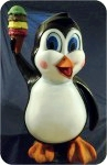 Penguin Ice Cream Cartoon , foam-sculpture-carvings, custom, sculpture, statue, art