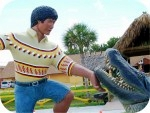 Miccosukee Alligator Wrestler, foam-sculpture-carvings, monumental-sculptures, sculpture, statue, art