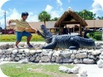 big-wrestler-gator_install_2076, Miccosukee Alligator Wrestler, foam-sculpture-carvings, monumental-sculptures, sculpture, statue, art