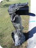 Alligator8ft-MAILBOX-PARCEL-51, Alligator 8Ft CM Mailbox Parcel, reptiles, alligator-mailbox, sculpture, statue, art