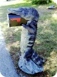 Alligator8ft-MAILBOX-PARCEL-63, Alligator 8Ft CM Mailbox Parcel, reptiles, alligator-mailbox, sculpture, statue, art