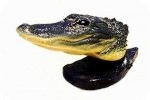 Alligator Head Sculpture, reptiles, alligators, sculpture, statue, art