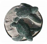 3_2gt_l, Pair of Green TURTLES, 5 x 2 in. , reptiles, turtles, sculpture, statue, art