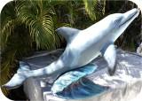 Blue Dolphin Statue! custom made