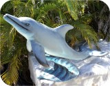 Dolphin4-5_976, Dolphin4 5 feet , sealife, dolphins, sculpture, statue, art