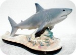 17_1_great_white_shark_rbig, Great White Shark fish on Reef sculpture, sealife, sharks, sculpture, statue, art