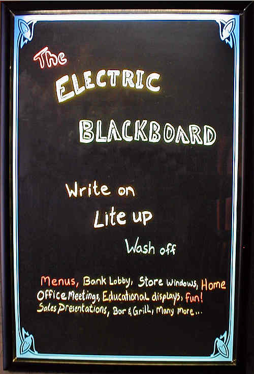 The Electric Blackboard + link to: Home page! http://www.chrisdixonstudios.com