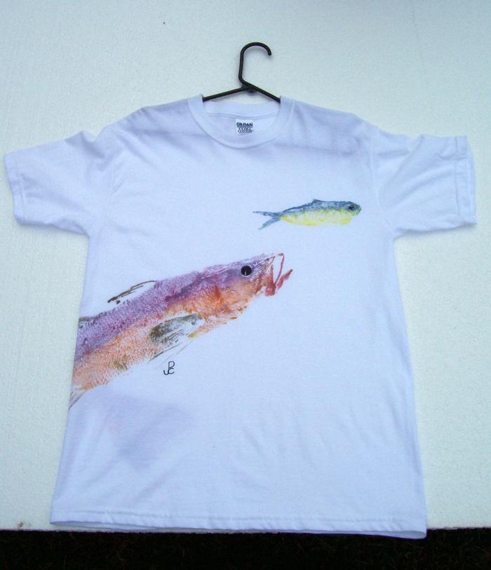 Pc fish prints for Fish print shirt