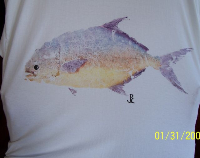 Pc fish prints for Picture of pompano fish