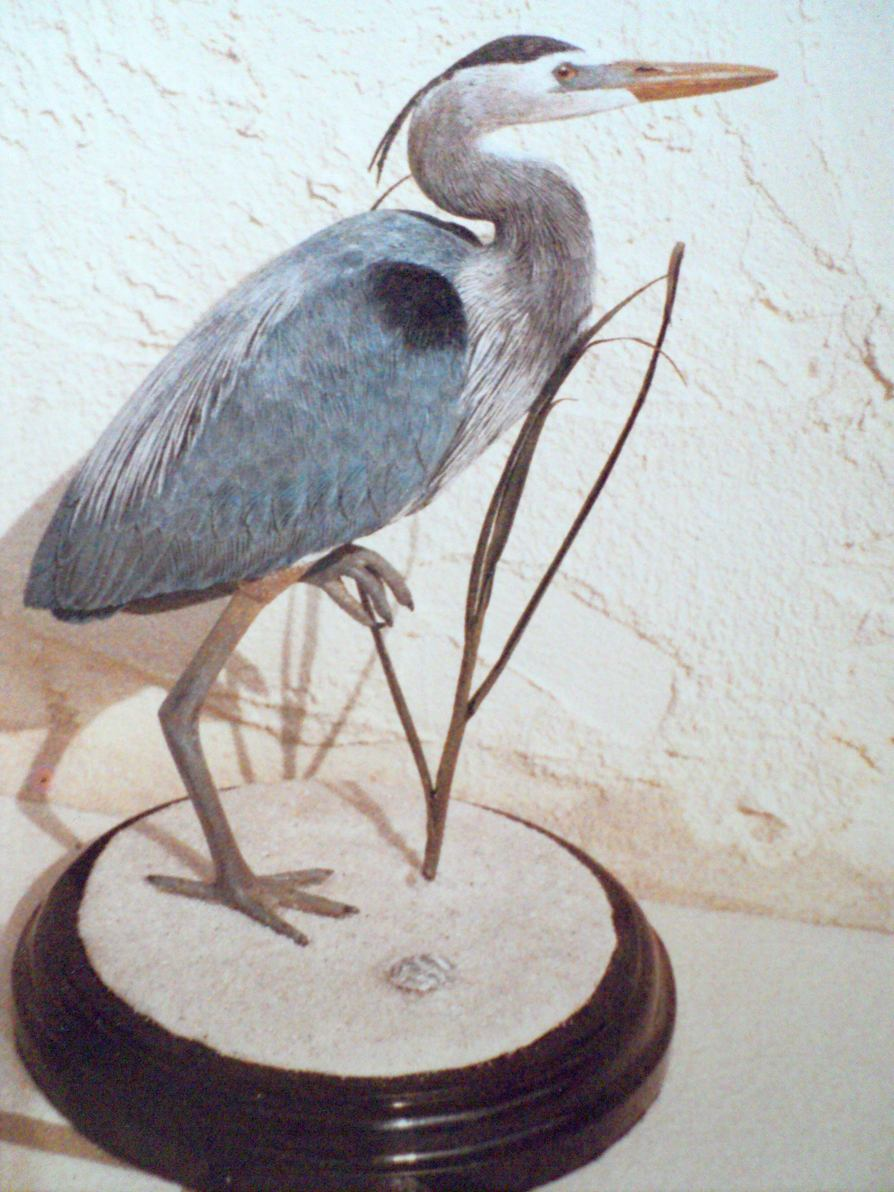 Painting Wood Carved Birds